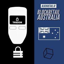 TREZOR Bitcoin Wallet - WHITE - Cryptocurrency Bitcoin