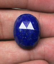 20.40 CTS NATURAL LAPIS LAZULI ROSE CUT FLAT BACK OVAL LOOSE GEMSTONE B 7320