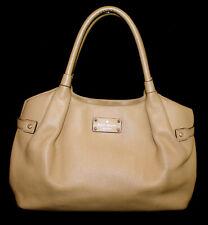 KATE SPADE Berkshire Road Stevie Satchel WKRU1247 Tan Pebble Leather