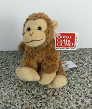 Gund Monkey Jungle Sound Zip Alongs Plush Stuffed 31053