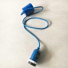 Lampe suspendue Cordon SUSPENSION DE avec interrupteur E27 Bleu