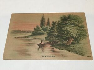RARE - postcard POSTED 1908 MICHIGAN US Postage Stamp 2 cent Washington