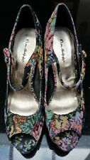 Womens / Girls Miss Selfridge Woven Textile Mary Jane Shoes in size UK 7