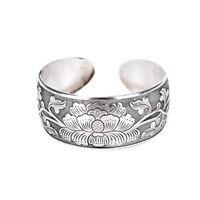 Beautiful New Tibetan Tibet Silver Totem Bangle Cuff Peony Bracelet Jewelry DSUK