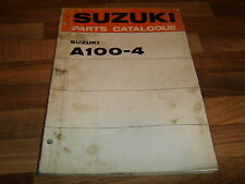 SUZUKI A100 A 100 - 4 MOTORCYCLE PARTS CATALOGUE MANUAL