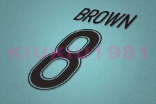 Celtic Brown #8 2009-2012 Homekit Nameset Printing