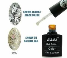 Bluesky UV LED Soak Off Nail Polish SP20 Silver Stars 10ml