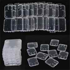 10X Transparent Standard SD SDHC Memory Card Case Holder Box Storage Plastic TR