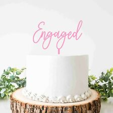 Engaged Cake Topper for Engagement Party Cake Decoration Acrylic Gold mirror