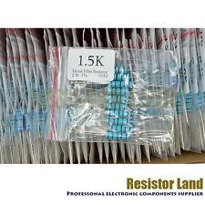 100 Value 10pcs each 2W Metal Film Resistor Box Kit 1ohm ~1M ohm 1%
