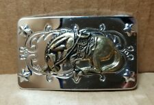 Vintage Horse Belt Buckle - Hong Kong (B-1)