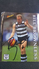 BILLY BROWNLESS 1995 SELECT GEELONG CATS SIGNED CARD