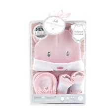 4-Piece Baby Bodysuit And Accessory Set bear-themed Beenie Scratch Mittens Socks