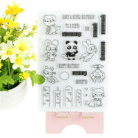 Panda Clear Silikon Stempel / Dichtung für DIY Scrapbooking Fotoalbum Dekor CG3D