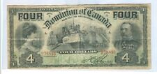 1902 FOUR DOLLARS DOMINION OF CANADA 26A OTTAWA,CANADA NOTE - CIR