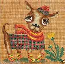 Stickpackung Chihuahua Kreuzstich Perlen 20x20 cm Hund Welpe Dog DIY #HHD4028