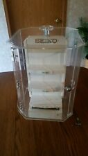 SEIKO WATCH COUNTER-TOP STORE DISPLAY. VINTAGE OUT OF OLD JEWELRY STORE