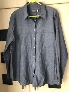 Mint Velvet Blue Long Sleeved  Shirt  Size 18.  New