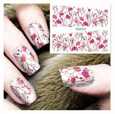 Light Pink Flowers Nail Art Sticker Decal Decoration Manicure Water Transfer