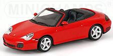 PORSCHE 911 CARRERA 4S Cabriolet Tipo: 996 1997-2006 ROSSO Indaco 1:43 Minichamp
