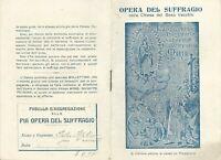 Libretto religioso Opera del Suffragio Chiesa Gesù Vecchio Napoli con Statuto e