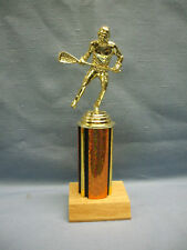 male lacrosse award copper personalized trophy