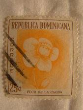 Dominican Republic Stamp 1957 Scott 492 A121 Flower 25c
