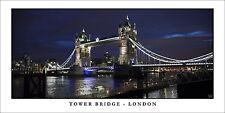 Poster Panorama Tower Bridge London England United Kingdom Fine Art Print Photo