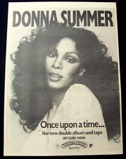 DONNA SUMMER 1977 original POSTER ADVERT ONCE UPON A TIME casablanca records