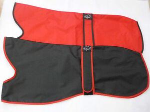 "24"" 26"" 28"" 30"" Greyhound Lightweight Waterproof Rain Mac Coat Red Black Unlined"