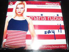 Maria Rubia Of Fragma Say It Australian Remixes Enhanced 5 Track CD Single