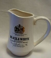 Black & White Whiskey Jug Pitcher By Appointment To The Queen Scottie Dogs