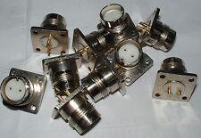 10 x  twinax twinaxial  solder chassis socket  twin-axial twin-ax