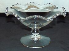 """Imperial CANDLEWICK CRYSTAL* 5 1/4"""" FOOTED CRIMPED BOWL/COMPOTE* #400/67C*"""