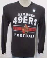 San Francisco 49ers Men's Tail Gate Long Sleeve Thermal Shirt NFL Black A15