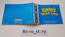 Nintendo Game Boy Kirby's Dream Land Notice / Instruction Manual