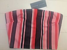 New Look Bandeau Boob tube size 8 Crop Stripe Black Pink Red New with Tags BNWT