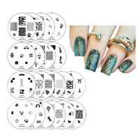 Winstonia Nail Art Stamping Plates Set Stamp Disc Manicure 1ST GEN Template Gel