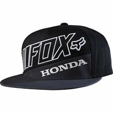 New Authentic Fox Racing Honda Premium Snapback Men's Black Hat Cap 18969