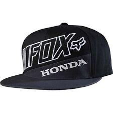 New Authentic Fox Racing Honda Premium Snapback Men's Black Hat Cap 18969