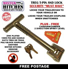 CAR ADAPTER BRACKET PIN  & LOCK  TREG OR TRIGG STYLE POLY BLOCK COUPLING