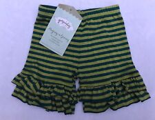 Nwt Girls Persnickety Marley Shortie Shorts Ruffled green blue stripe 18 months