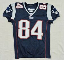 JERON MASTRUD NEW ENGLAND PATRIOTS #84 Game Used NFL Sewn Reebok Home Jersey