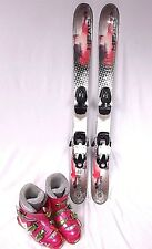 GIRLS SKI PCKG, Head Mojo Spawn,97cm Pink & Red Ski Pkg, Roxy Boots, Atomic Bndg