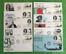 HAWAII US CAPTAIN JAMES COOK SET (11) FDC FIRST DAY COVER 1978 HONOLULU & GIFT!