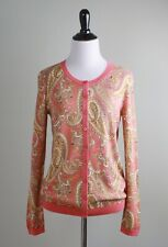 TALBOTS NWT $99 Stretch Knit Regal Paisley Print Sweater Top Size Small Petite