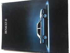 RARE Catalogue brochure Katalog Prospekt RENAULT 25 GTX V6  28 PAGES Année 1985