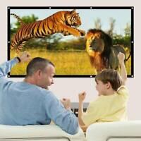 Théâtre de cinéma extérieur à la maison mat 3D HD écran de projecteur portatif G