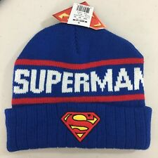 sports shoes defc5 205a4 DC Comics Superman Beanie Hat Toboggan Retro Patch