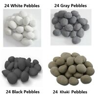24 PCS Ceramic Pebbles For Gas Ethanol Fireplace,Stove,Fire Pits,Four colors